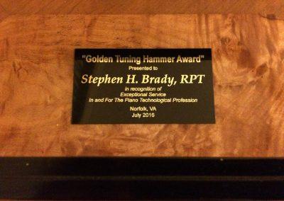 Golden Tuning Hammer Award